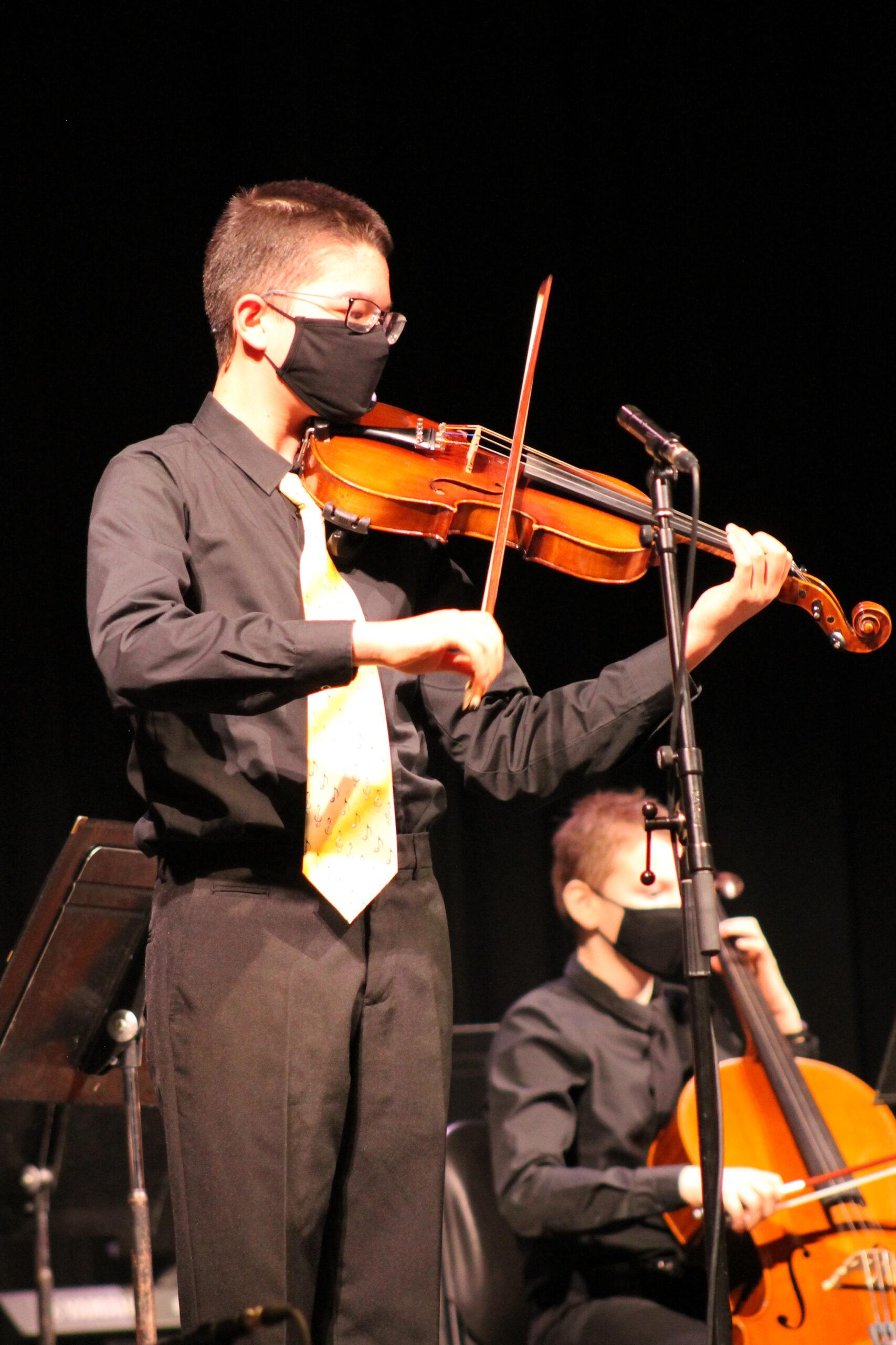 Soloist on viola during LJYO concert